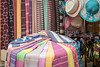 A gift shop selling textiles goods at Kite Beach, Dubai, UAE, Middle East.