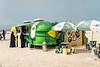 Food vendor kiosks at Kite Beach, Dubai, UAE, Middle East.