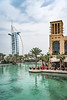 Abra boats in the canals of the Madinat Jumeirah Souq in Dubai, UIAE, Middle East.