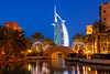 The Madinet Jumeirah and the Burj al Arab Hotel in Dubai, UAE