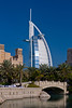 The Madinet Jumeirah and the Burj al Arab Hotel in Dubai, UAE.