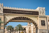 The Madinat Jumeirah entrance sign in Dubai, UAE, Middle East.