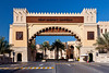 The entrance gate to the Souk Madinat Jumeirah in Dubai, UAE.