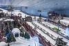 The Ski Dubai indoor ski facilities in the Mall of the Emirates, Dubai, UAE, Middle East.