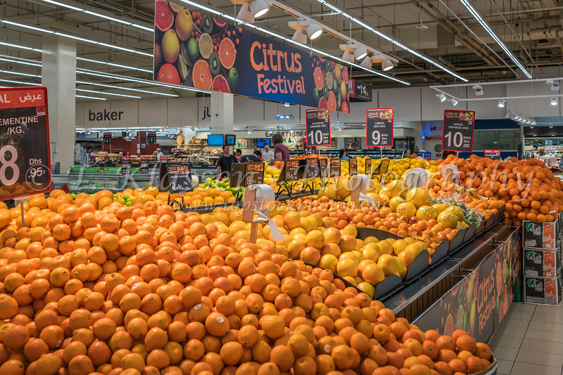 The fruit market inside the supermarket in Mall of the Emirates, Dubai, UAE, Middle East.