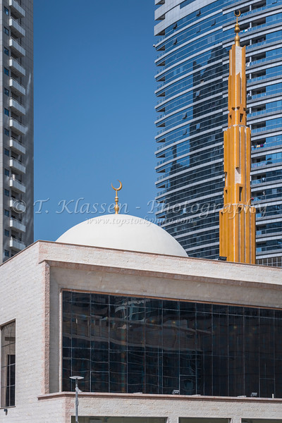 The Hamel bin Khadam Al Ghaith Mosque in Al Barsha, Dubai, UAE, Middle East.