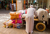 Fresh produce displayed in the spice souq market in Dubai, UAE.