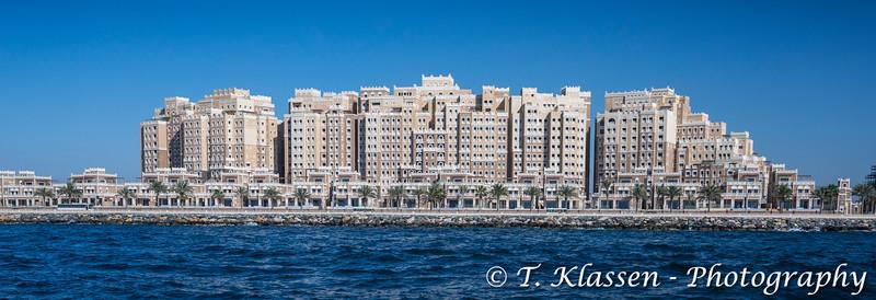 The Kingdom of Sheba resort hotel on the Palm Jumeirah islands off the coast of Dubai, UAE, Middle East.