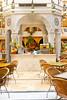 Interior restaurant decor at the Wafi shopping center in Dubai, UAE.