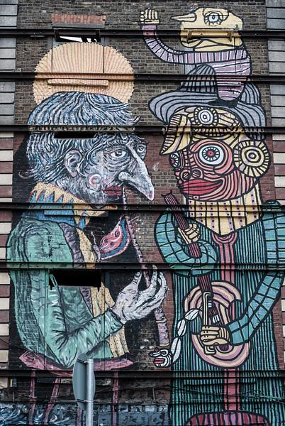 Street Art Expressionist Figures