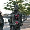 Potato Famine statues along the Liffey