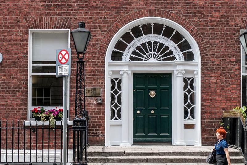 Georgian Door green