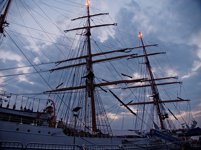 One of the oldest tall ships in US service, The Cutter Eagle, is now docked on Sir John Rogerson's Quay and is open for free tours to the public.  We got to have a sneak peek at the ship just after it moored at lunchtime today and it's well worth a stroll down the quays to have a nose around...  CLICK TO PLAY  Play 0:00 / 0:08 Fullscreen Mute Share The Eagle stretches an incredible 90 metres with its masts reaching just over 147 metres high.  The ship is used as a training vessel for coast guards and currently has a crew of nearly 240 with mainly cadets on board literally learning the ropes; there's over 9km of rigging on board the ship.