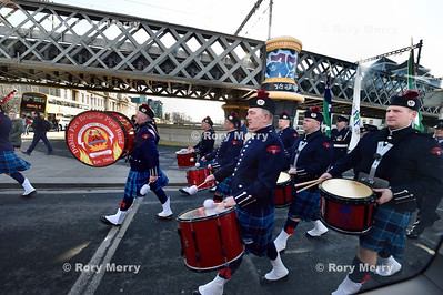 Dublin Fire Brigade Pipe Band March to Celebrate the 1616 Easter Rising
