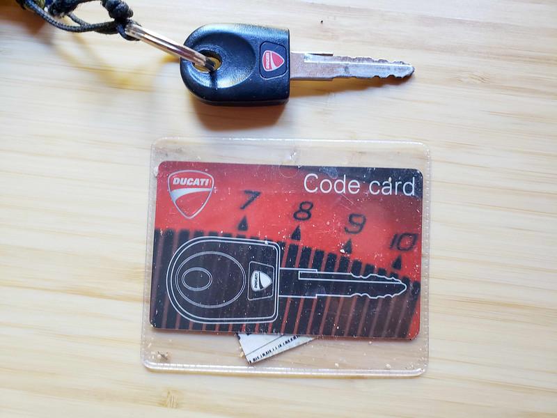 Ducati 848 Evo - Code Card