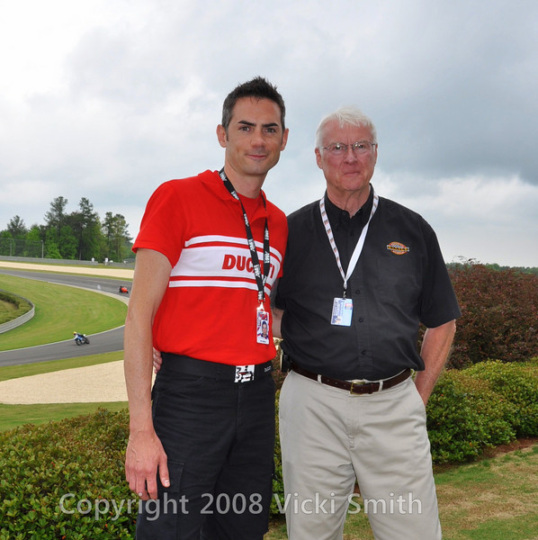 That's George Barber on the right, Ray Crepeau from Ducati on the left