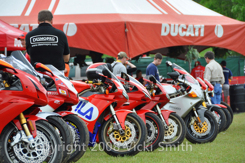 And Rich Lambrechts of Desmopro, one of three judges for the Ducati Island Showdown was making the final choices