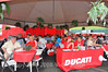Ducati hospitality was hopping
