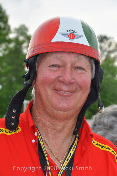 Silly helmet photo number 2.  That's Larry's Dad