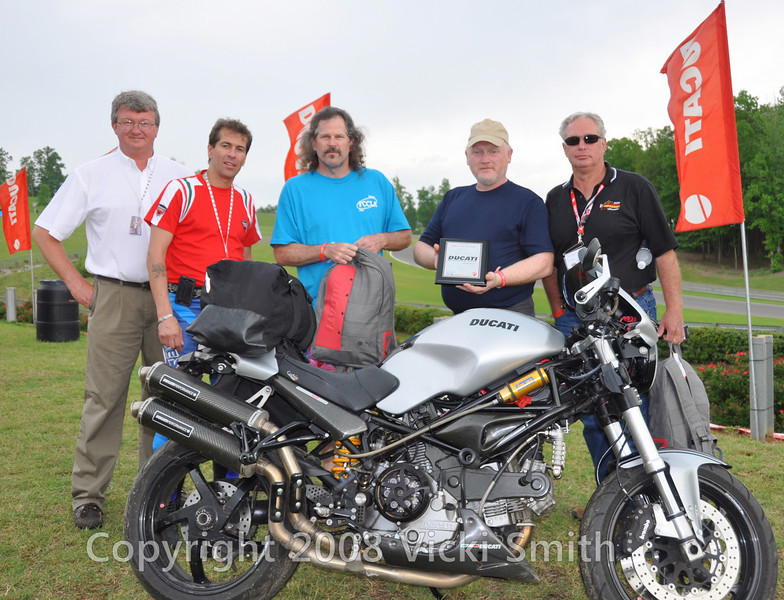 Top prize went to this Monster belonging to Paul Earthrowl. Other winners from left - Jeff Ray, Michael Vega, Kenneth House, Paul Earthrowl and Howard Boone