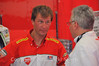 Geez is this photo screaming for a funny caption or what?  That's Larry Pegram and Jim Viola from Ducati