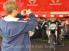 Ducati Island offers lots of photo oppertunities.  This future Ducatisti picks out his favorite
