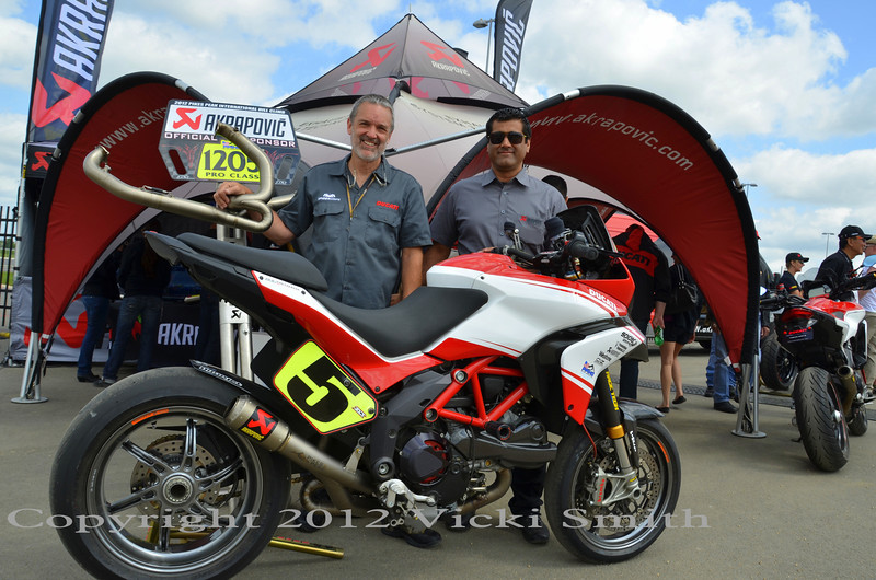 Pikes Peak Team on hand with the Akrapovic folks
