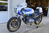 Deja Blue, the exact replica of Old Blue, the 750 SuperSport Cook and Phil won the Daytona Superbike race with in 1977