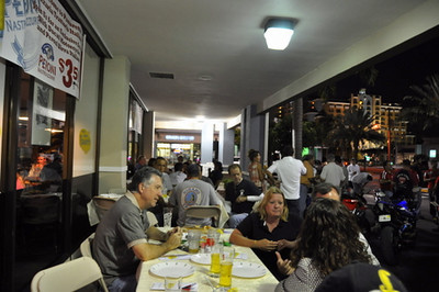 By 8 most people were finding a spot at a table for some of Panaretto's famous pizza or pasta