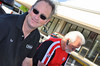 Rich Lambrechts (DesmoPro) and Danny Carson (Ducati North America) take a moment before the action starts