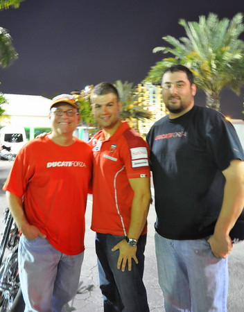 The Ducati Forza Staff with Chris Jones from Ducati North America (center)