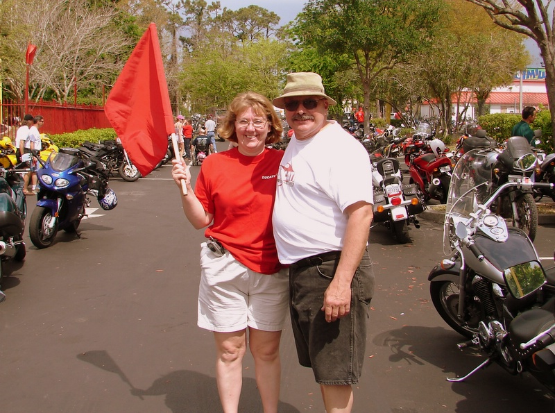That's the Wildeman and his wife Laureen. King of the parking lot, he's a master at keeping things running smooth.