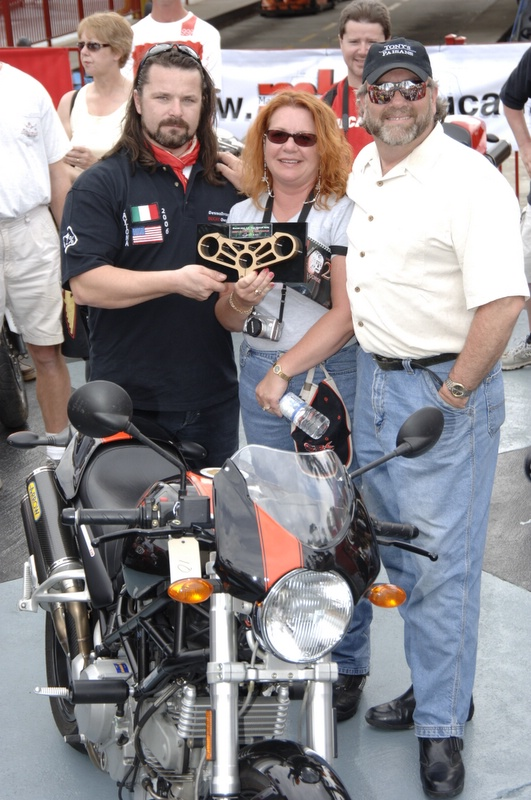 Vicki Menard's S2r with Arrow pipes was the winner and went to the final.