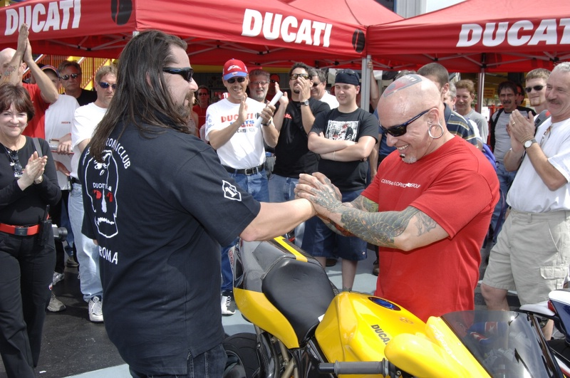 The winner of the 4 valve class. Yes, the tattoo on his head is real!