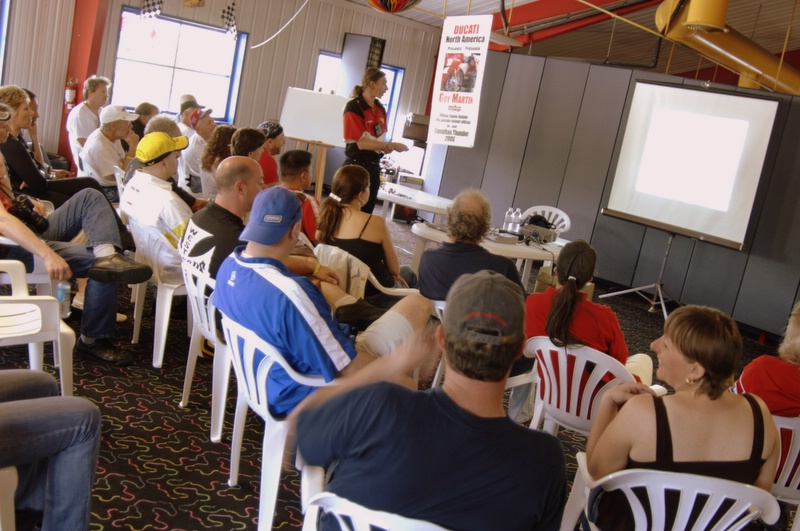 Guy Martin's always excellent valve adjustmant seminar was a full house.