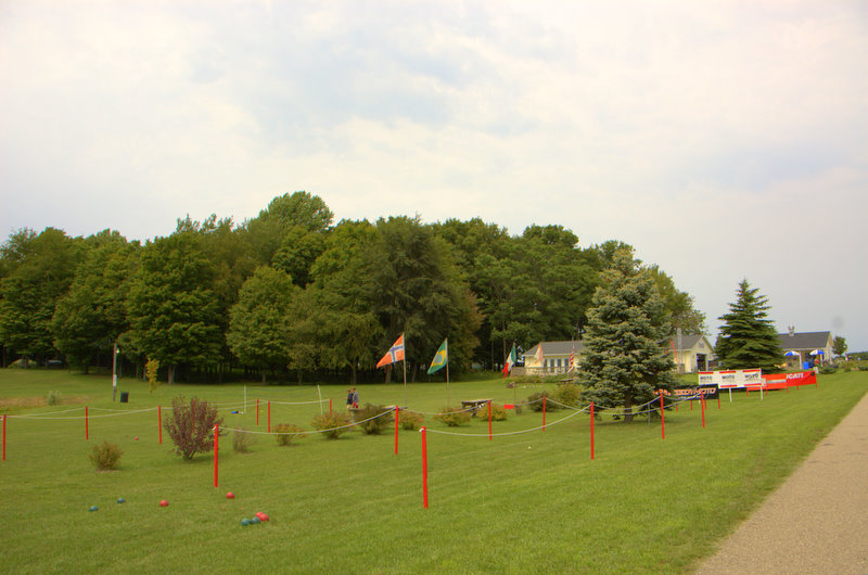 Bocci and other games were set up on the lush Gingerman lawn for the kids and no longer kids to play