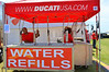 New across the circuit this year were these water refill stations. Free.