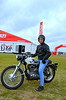 Good looking pair right? That's my sweetie Rich Lambrechts on my 1968 Ducati 350 Scrambler.