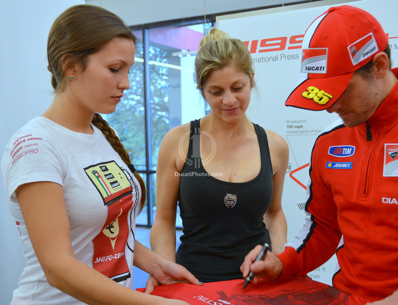 Unless you bought one of those cool Ducati Austin shirts to take home to Victor :-)  (That's my friends Devin and Sabrina)