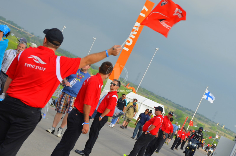 The Island is well inside the circuit, and Ducati parking was dead center in the corporate display.  Follow the red shirts