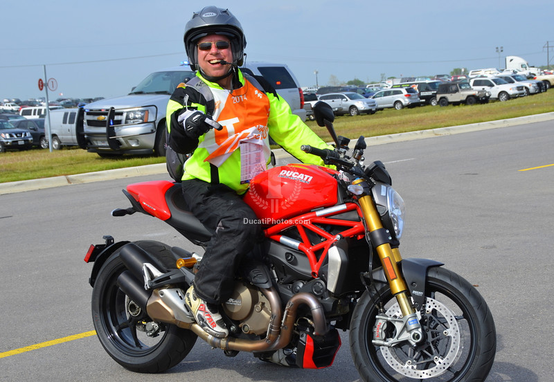All the marshals were on new 1200 S Monsters. This seemed to make them happy