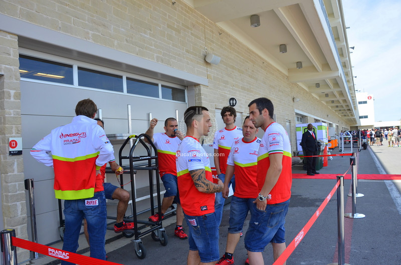 And the Pramac team taking a break