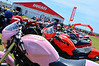 Colors that grab you like this pink Monster or a yellow Diavel.