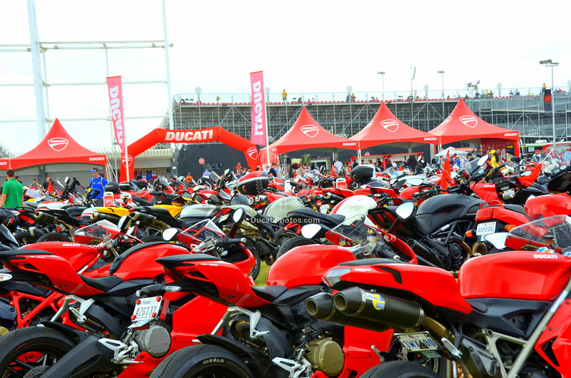 And the field is literally groaning with the number of Ducatis parked there now