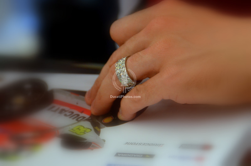 Here's something new, Cal's wearing a shiny new wedding band having gotten married in California over the winter break
