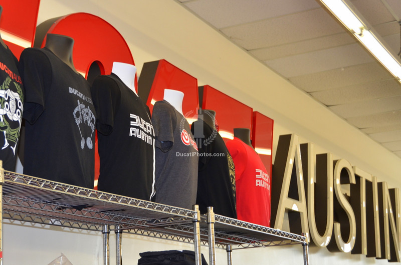 If you are the type that likes a dealer shirt from places you visit I really believe that I have never seen a better selection of great t's.  Rich and I will be wearing Ducati Austin shirts on most days now...