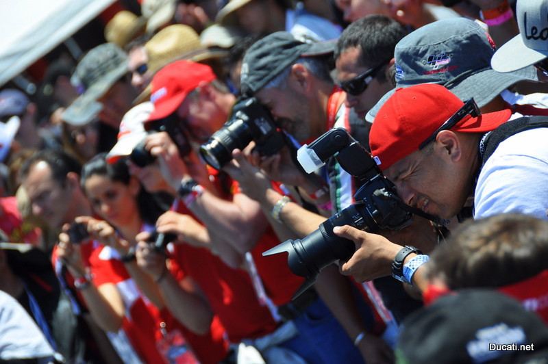 Ducati Island fashion shows are photographer favorites, it's always a feast for the camera guys