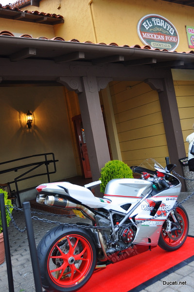 Friday and Saturday night the Ducati Clubs get together. Friday night it's El Torito on Cannery Row