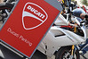 But the heart of the Island is Ducati parking. This is the place to bring your Ducati, to see and be seen. It's a Ducati Passion contest and we are all winners