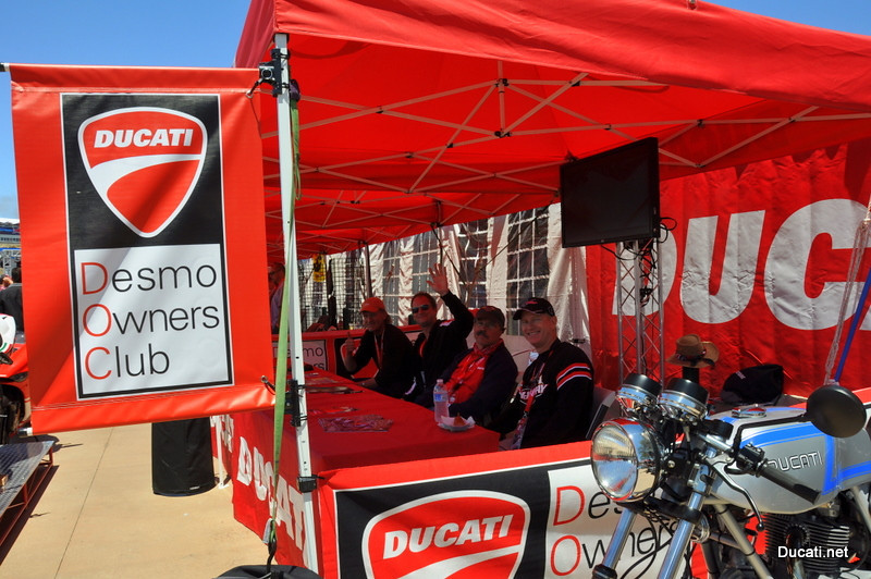 Ducati Owners Clubs were out in force.  Over 60 clubs, almost half of Ducati's owner clubs worldwide are located in the USA and Ducati Island's bring them out in force.  Have a question?  This is the place...
